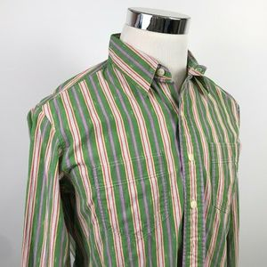 NWT Polo Ralph Lauren Mens Medium Green Striped